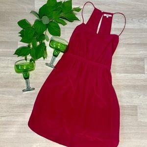 Madewell 100% Silk Fuchsia Dress